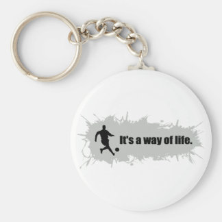 Soccer is a Way of Life Keychain