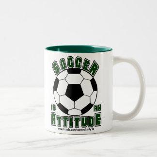 Soccer is an Attitude Two-Tone Coffee Mug