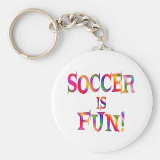 Soccer is Fun Basic Round Button Keychain