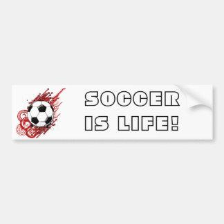 SOCCER IS LIFE! BUMPER STICKER