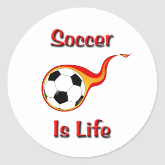 Soccer Is Life Classic Round Sticker