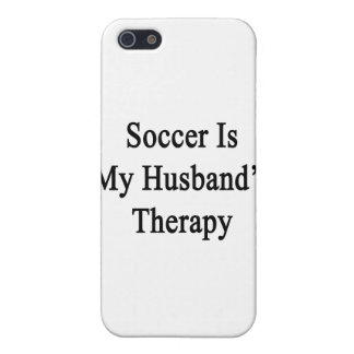 Soccer Is My Husband's Therapy iPhone 5 Case