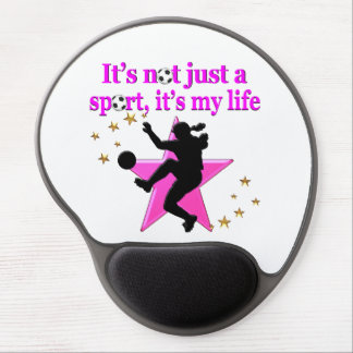 SOCCER IS MY LIFE GEL MOUSE PAD