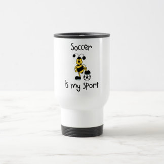 Soccer Is My Sport T-shirts and Gifts 15 Oz Stainless Steel Travel Mug