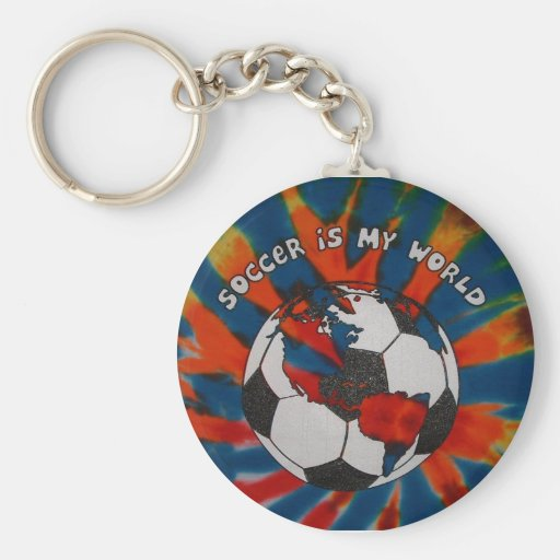 Soccer is my World Keychain
