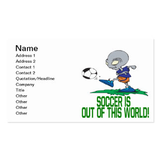 Soccer Is Out Of This World Business Card