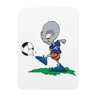 Soccer Is Out Of This World Rectangular Photo Magnet