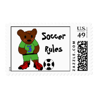 Soccer Is Where It Is At Postage Stamps