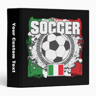 Soccer Italy 3 Ring Binders