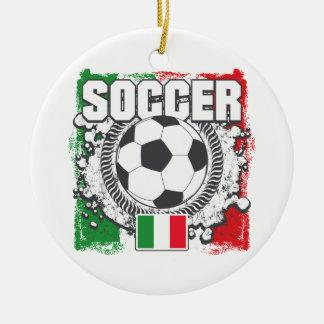 Soccer Italy Ceramic Ornament