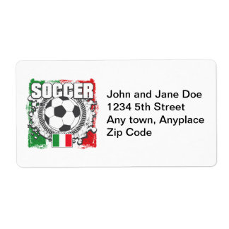 Soccer Italy Shipping Label