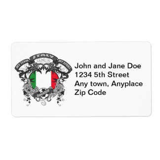 Soccer Italy Personalized Shipping Label