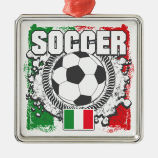 Soccer Italy Metal Ornament