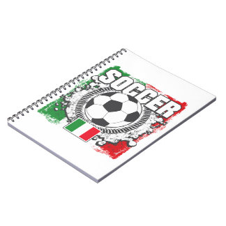 Soccer Italy Spiral Notebook