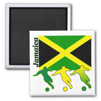 Soccer Jamaica 2 Inch Square Magnet