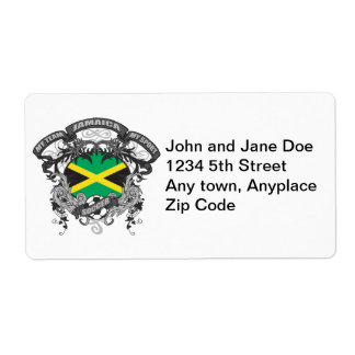 Soccer Jamaica Shipping Label