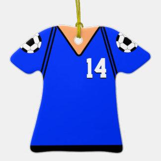 Soccer Jersey 14 Dark Blue Version 1 Christmas Ornament