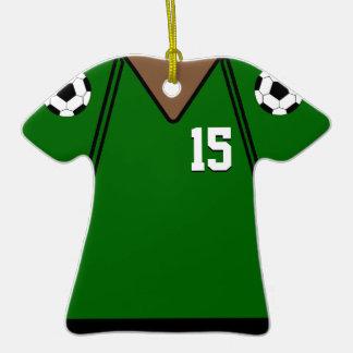 Soccer Jersey 15 Green Version 2 Ornaments
