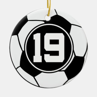 Soccer Jersey Number 19 Gift Idea Ceramic Ornament