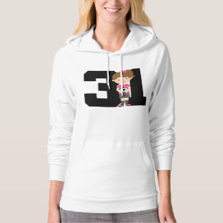 Soccer Jersey Number 31 (Girls) Gift Hooded Pullover