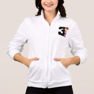 Soccer Jersey Number 3 (Girls) Gift Jacket