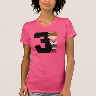 Soccer Jersey Number 3 (Girls) Gift T-Shirt