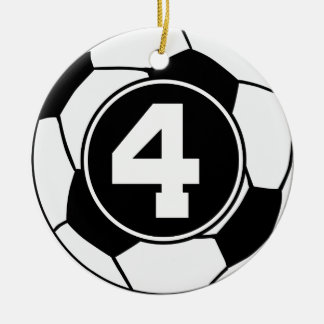 Soccer Jersey Number 4 Gift Idea Ornament