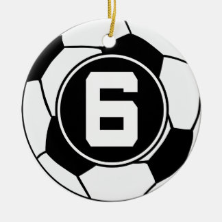 Soccer Jersey Number 6 Gift Idea Christmas Ornament