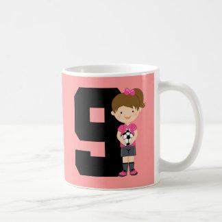 Soccer Jersey Number 9 (Girls) Gift Coffee Mug