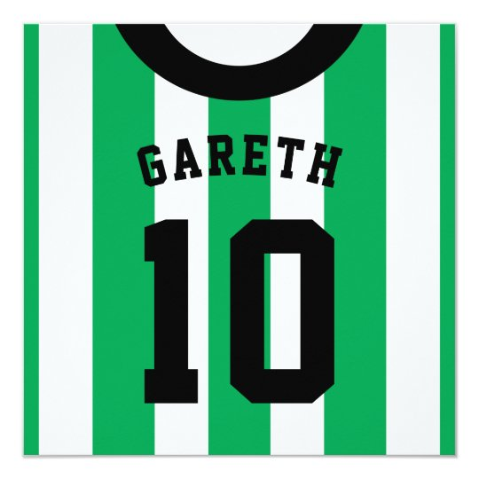 Soccer jersey themed party invites template green zazzle soccer jersey themed party invites template green stopboris Image collections