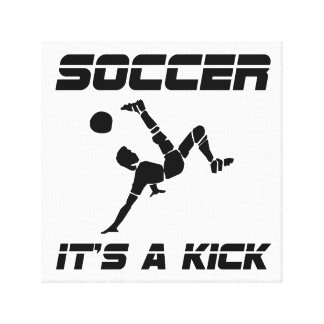 Soccer Kick Canvas Print