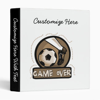 Soccer Kick Game Over Tshirts and Gifts 3 Ring Binder