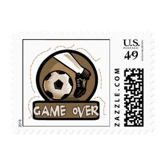 Soccer Kick Game Over Tshirts and Gifts Postage Stamp