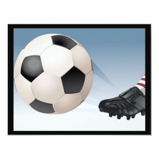 "soccer-kick 4.25"" x 5.5"" invitation card"