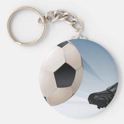 Soccer Kick Key Chains