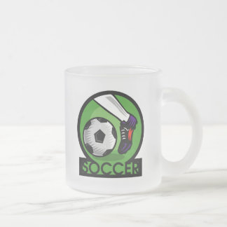 Soccer Kick T-shirts and Gifts Frosted Glass Coffee Mug