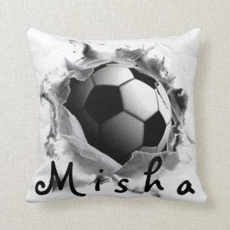 Soccer Kick Throw Pillow