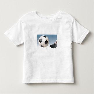 soccer-kick toddler t-shirt