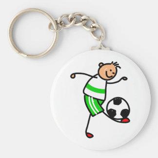 Soccer Kid Basic Round Button Keychain