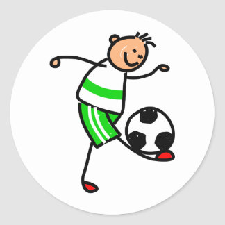 Soccer Kid Classic Round Sticker
