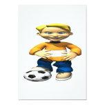 Soccer Kid Custom Invite