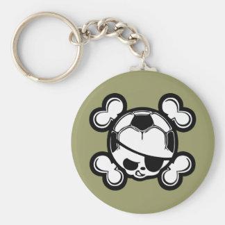 Soccer Kid Pirate Keychain