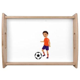 Soccer Kid Serving Tray