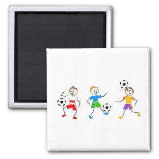 Soccer Kids Refrigerator Magnet