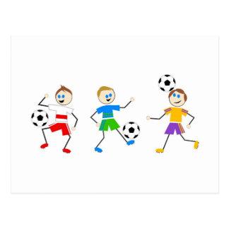 Soccer Kids Postcard