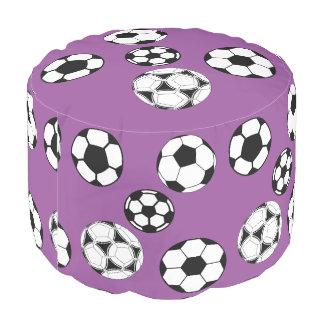 Soccer kids purple girls pouf