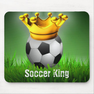 Soccer King Soccer Ball Crown Mouse Pad