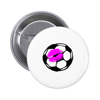 Soccer Kiss (Pink) 2 Inch Round Button