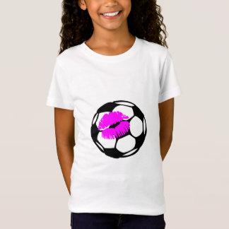 Soccer Kiss (Pink) T-Shirt