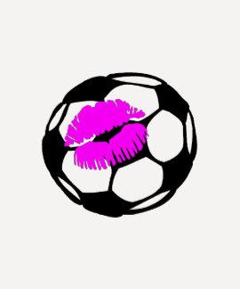 Soccer Kiss (Pink) Tees
